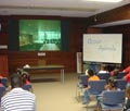 Students attending a Distance Learning Presentation
