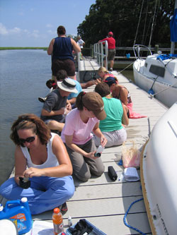 Water quality testing on Sapelo Island
